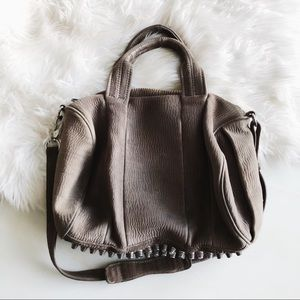 Alexander Wang Grey Suede Rocco Bag